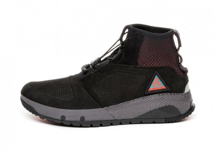Кроссовки Nike ACG Ruckel Ridge (Black / Black - Geode Teal - Habanero Red) | Интернет-магазин Sole