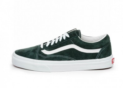 Кроссовки Vans Old Skool *Pig Suede* (Darkest Spruce / True White)