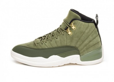 Кроссовки Nike Air Jordan 12 Retro Chris Paul *Class Of 2003* (Olive Canvas / Metallic Gold - Black - Sail)