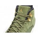Кроссовки Nike Air Jordan 12 Retro Chris Paul *Class Of 2003* (Olive Canvas / Metallic Gold - Black - Sail), фото 4 | Интернет-магазин Sole