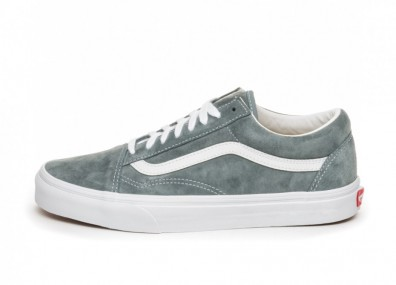 Кроссовки Vans Old Skool *Pig Suede* (Stormy Weather / True White)