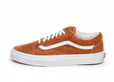 Кроссовки Vans Old Skool *Pig Suede* (Leather Brown / True White)