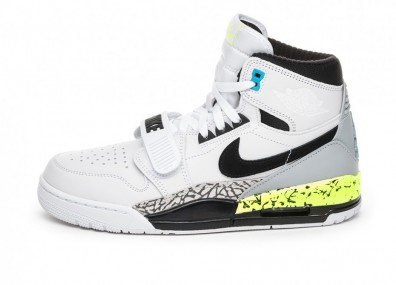 Кроссовки Nike Air Jordan Legacy 312 NRG *Billy Hoyle* (White / Black - Volt - Vivid Blue)