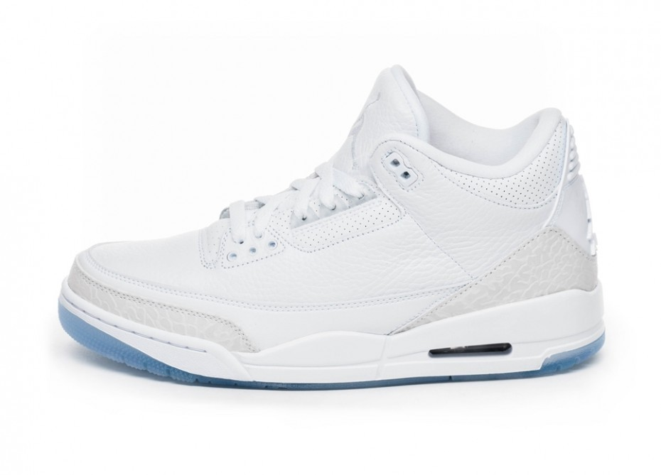 Кроссовки Nike Air Jordan 3 Retro  Pure White  (White   White - White cae22cd9989