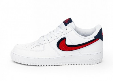 Кроссовки Nike Air Force 1 '07 LV8 (White / University Red - Blue Void)