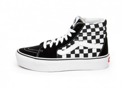 Кроссовки Vans Sk8-Hi Platform 2.0 (Checkerboard / True White)