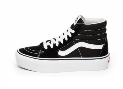 Кроссовки Vans Sk8-Hi Platform 2.0 (Black / True White)