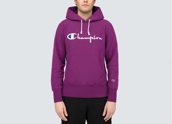 Худи Champion Hooded Sweatshirt - Violet | Интернет-магазин Sole