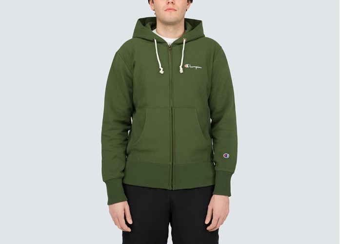 Худи Champion Hooded Full Zip - Olive | Интернет-магазин Sole