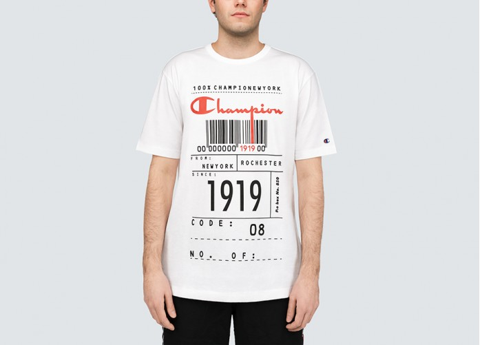 Футболка Champion Code Graphic Print Oversized T-Shirt - White | Интернет-магазин Sole