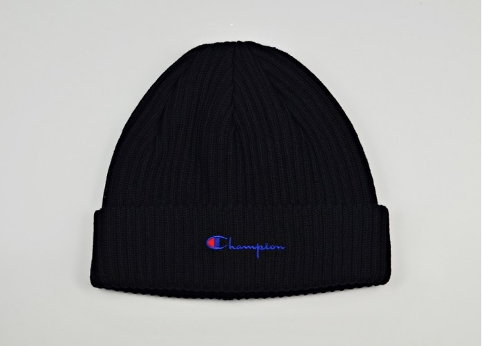 Шапка Champion Merino Wool Blend Script Logo Beanie Hat - Black | Интернет-магазин Sole