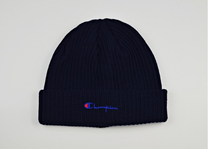 Шапка Champion Merino Wool Blend Script Logo Beanie Hat - Blue   Интернет-магазин Sole