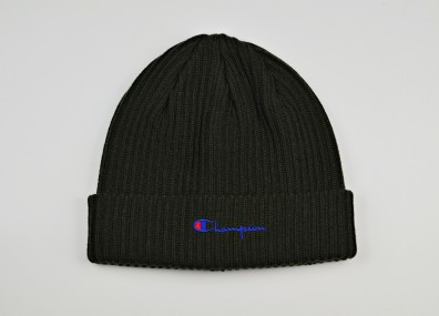 Шапка Champion Merino Wool Blend Script Logo Beanie Hat - Black