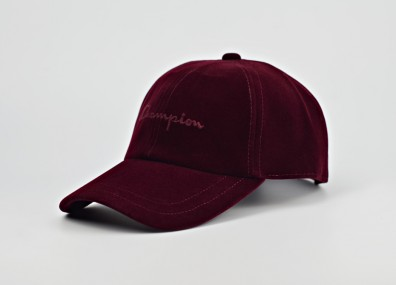 Кепка Champion Velour Script Logo Embroidered Baseball Cap - Burgundy