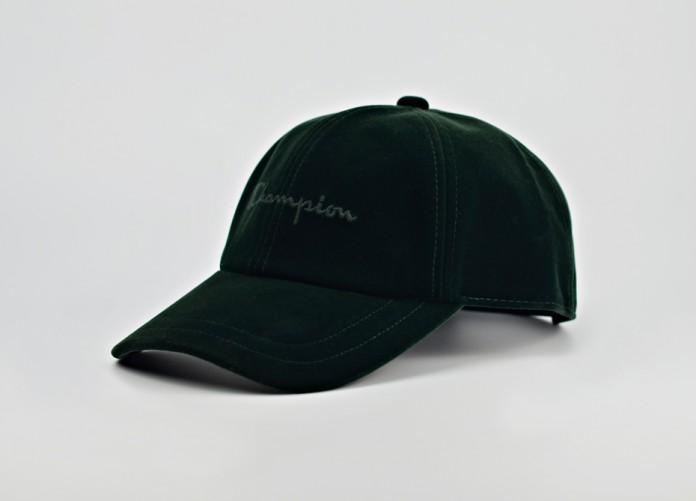 Кепка Champion Velour Script Logo Embroidered Baseball Cap - Bottle Green   Интернет-магазин Sole
