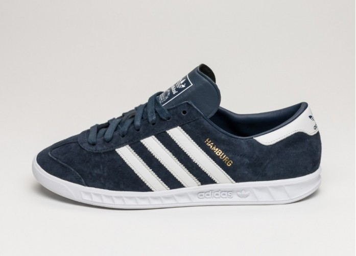 adidas Hamburg - Collegiate Navy / Running White / Gold Metallic | Интернет-магазин Sole