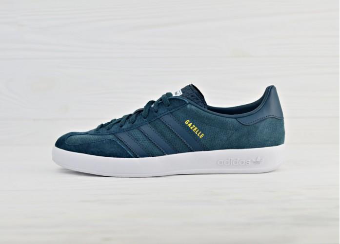 Мужские кроссовки adidas Originals Gazelle Indoor - Midnight/Midnight/Ftwr White | Интернет-магазин Sole