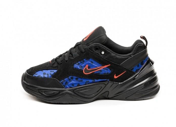 Кроссовки Nike Wmns M2K Tekno (Black / Habanero Red - Racer Blue) | Интернет-магазин Sole
