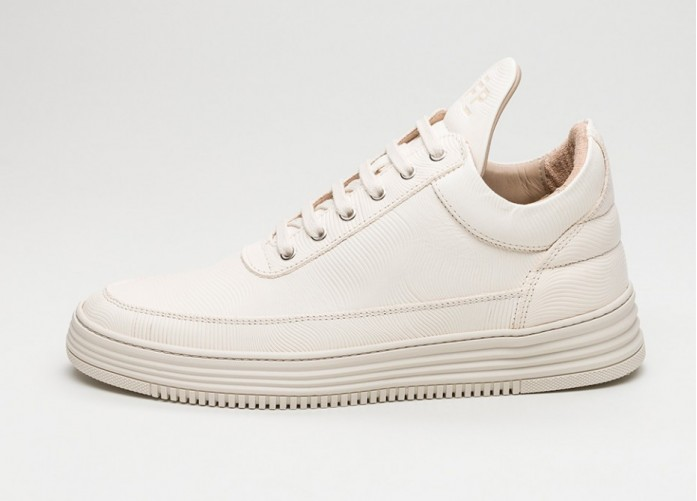 Мужские кроссовки Filling Pieces Low Top Monotone Stripe (Creme) | Интернет-магазин Sole