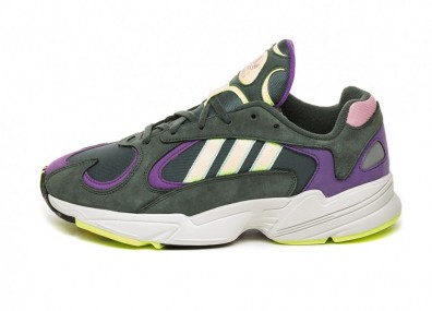 adidas Yung-1 - Legend Ivy / Hi Res Yellow / Active Purple