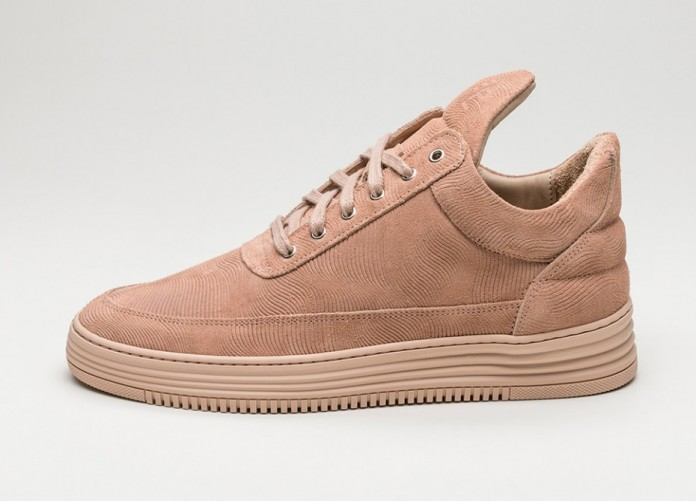 Мужские кроссовки Filling Pieces Low Top Monotone Stripe (Nude) | Интернет-магазин Sole