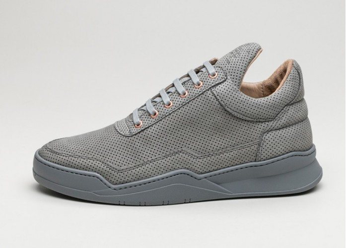 Мужские кроссовки Filling Pieces Low Top Perforated Alam (Grey) | Интернет-магазин Sole