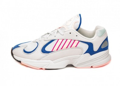 Кроссовки adidas Yung-1 (Crystal White / Clear Orange / Collegiate Royal)