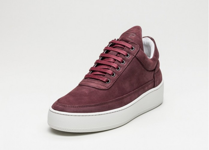 Мужские кроссовки Filling Pieces Low Top Cleo (Burgundy) | Интернет-магазин Sole