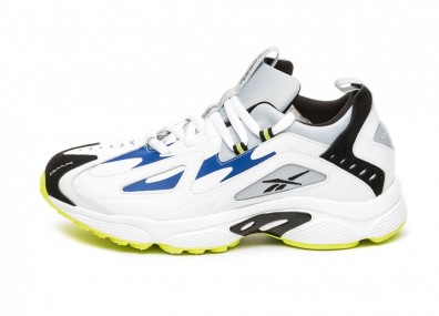 Кроссовки Reebok DMX Series 1200 LT (White / Cloud Grey / Blue Move / Neon Lime / Black)