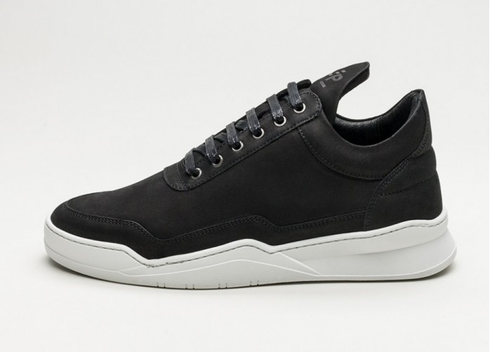 Мужские кроссовки Filling Pieces Low Top Ghost Matt Nubuck (Black) | Интернет-магазин Sole