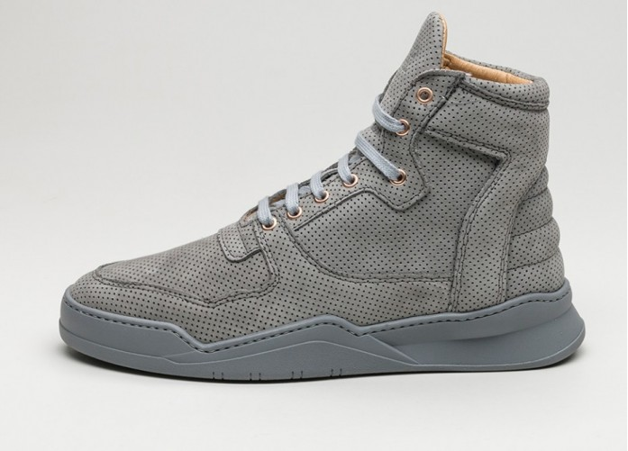 Мужские кроссовки Filling Pieces High Top Transformed Perforated Alam (Grey) | Интернет-магазин Sole
