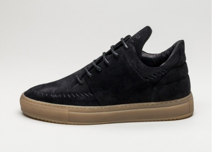 Мужские кроссовки Filling Pieces Low Apache Suede (Black) | Интернет-магазин Sole