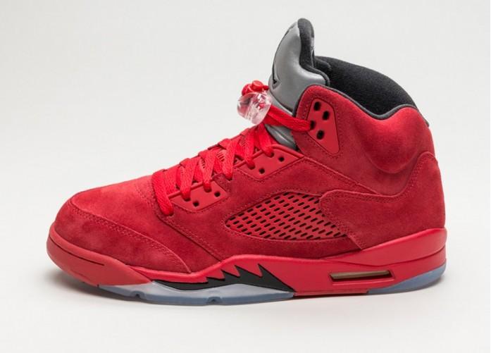 Мужские кроссовки Nike Air Jordan 5 Retro *Red Suede* (University Red / Black) | Интернет-магазин Sole