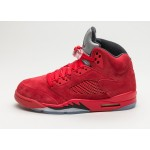Мужские кроссовки Nike Air Jordan 5 Retro *Red Suede* (University Red / Black), фото 1 | Интернет-магазин Sole