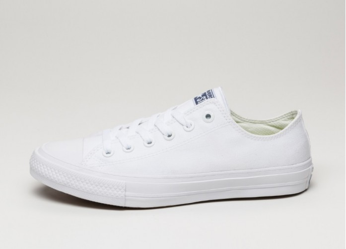 Мужские кроссовки Converse Chuck Taylor All Star II Ox (White / White / Navy) | Интернет-магазин Sole