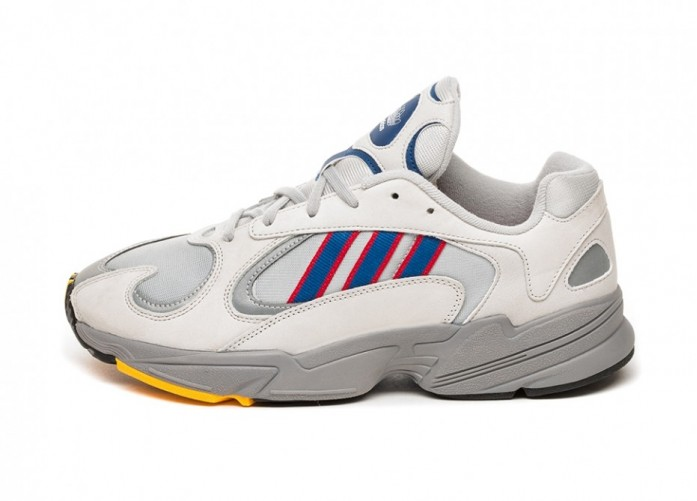 Кроссовки adidas Yung-1 (Grey Two / Collegiate Royal / Scarlet) | Интернет-магазин Sole
