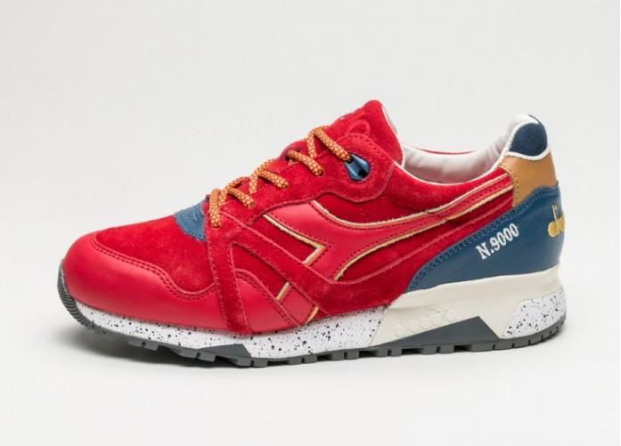 Мужские кроссовки Diadora x UBIQ N9000 (Red / Navy) | Интернет-магазин Sole
