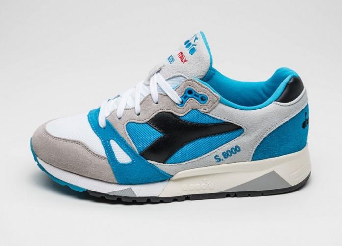 Мужские кроссовки Diadora S8000 NYL *Italia* (Dresden Blue / Paloma Gray) | Интернет-магазин Sole