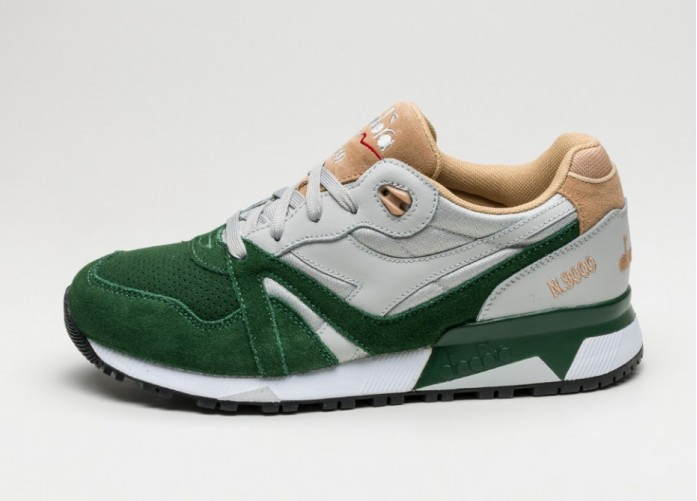 Мужские кроссовки Diadora N9000 Double L (Gray Violet / Greener Past / Sand) | Интернет-магазин Sole