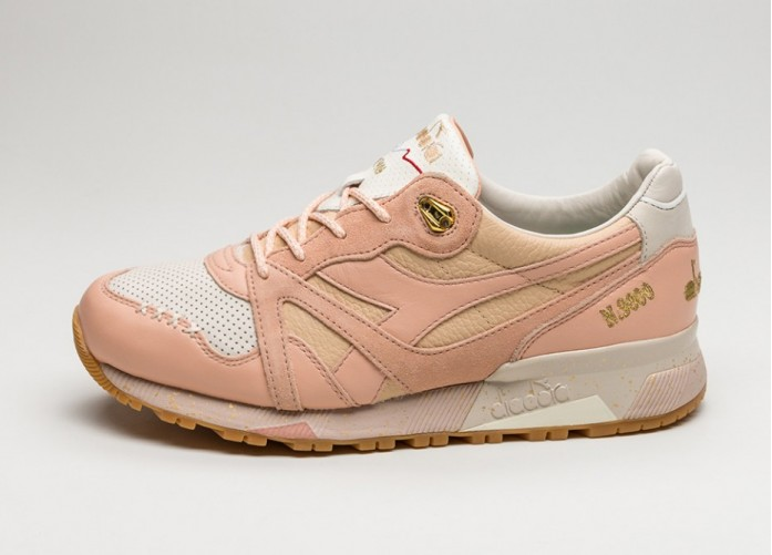 Мужские кроссовки Diadora x Feature N9000 *Strawberry Ice Cream* (Peach / Nougat) | Интернет-магазин Sole