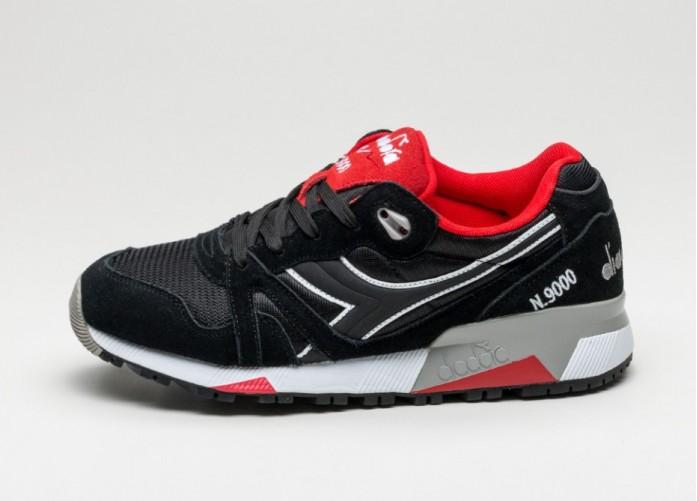 Мужские кроссовки Diadora N9000 NYL (Black / Ferrari Red Italia) | Интернет-магазин Sole