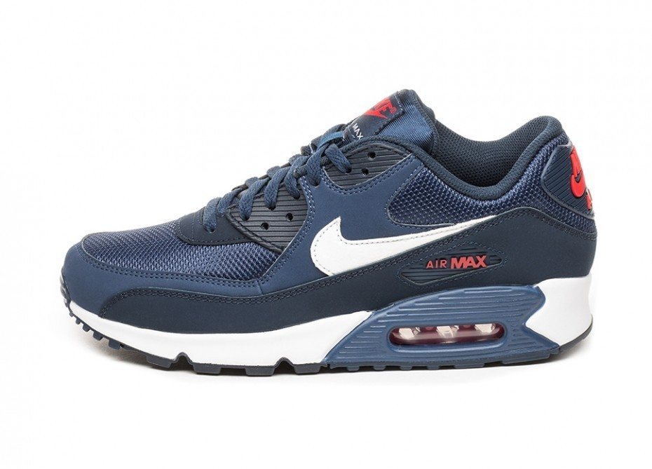 Кроссовки Nike Air Max 90 Essential (Midnight Navy White University Red)