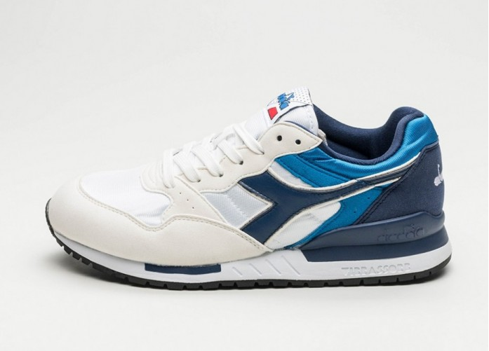 Мужские кроссовки Diadora Intrepid NYL (White / Estate Blue / Skydiver) | Интернет-магазин Sole