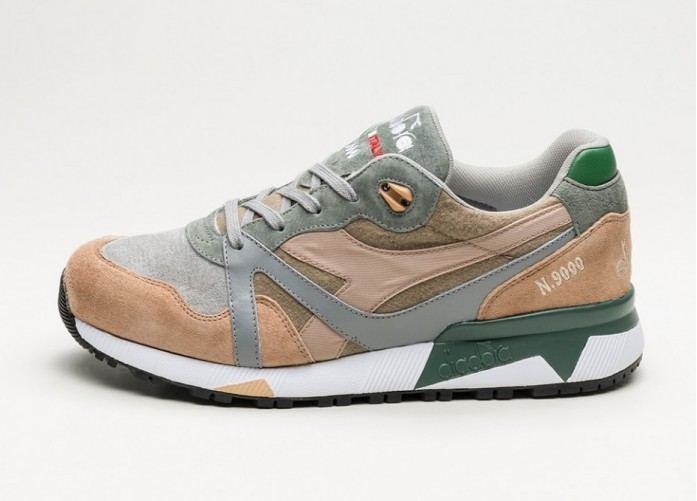 Мужские кроссовки Diadora N9000 Alpini *Made In Italy* (Green / Laurel Wreath) | Интернет-магазин Sole
