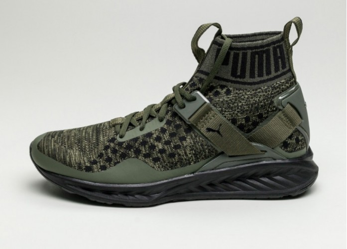 Мужские кроссовки Puma Ignite Evoknit (Burnt Olive / Forest Night / Puma Black) | Интернет-магазин Sole