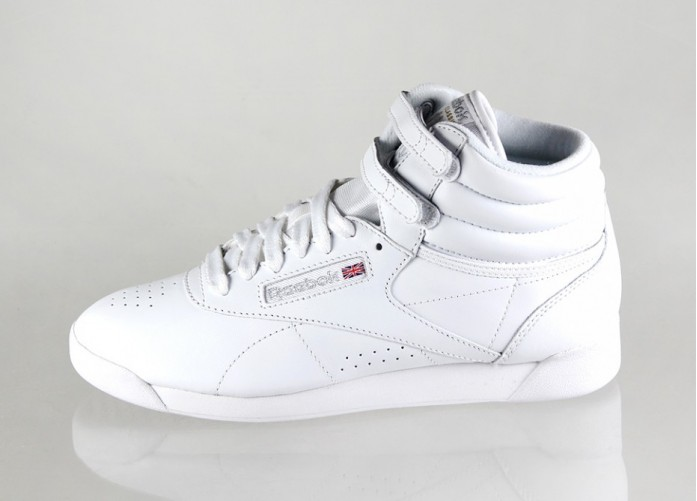 Мужские кроссовки Reebok Freestyle Hi (White / Silver) | Интернет-магазин Sole