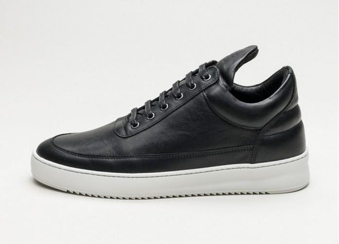 Мужские кроссовки Filling Pieces Low Top Ripple (Black) | Интернет-магазин Sole