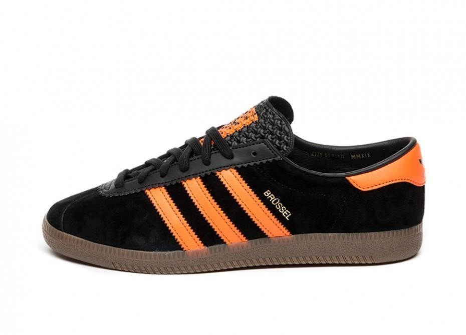 adidas Brussels (Core Black Orange Gold Metallic)