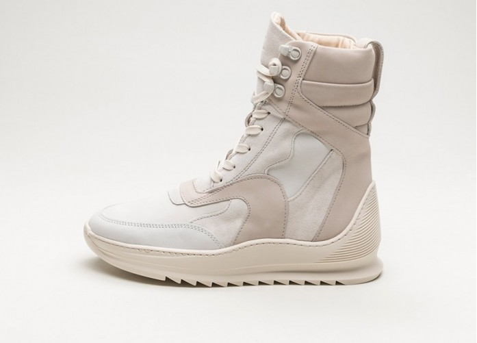 Мужские кроссовки Filling Pieces Peak Boot Heel Cap Storm (Off White / Nude) | Интернет-магазин Sole