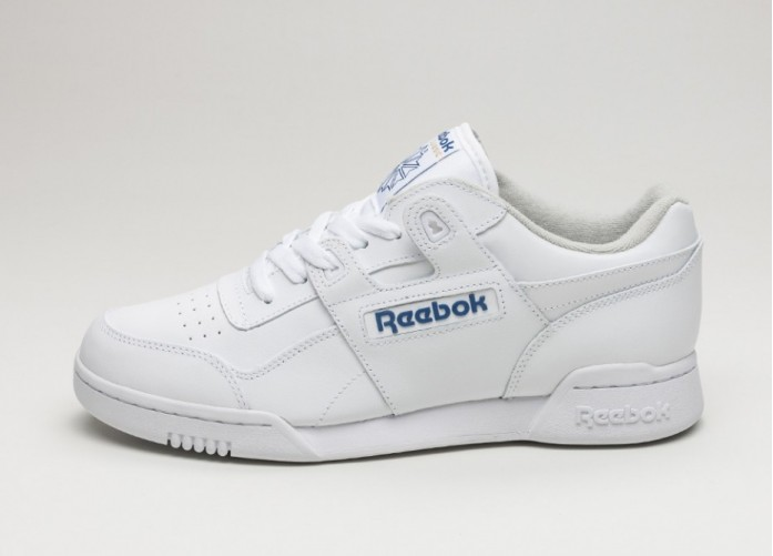 Мужские кроссовки Reebok Workout Plus (White / Royal) | Интернет-магазин Sole